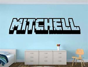 Personalized gamer name wall decal d looking room