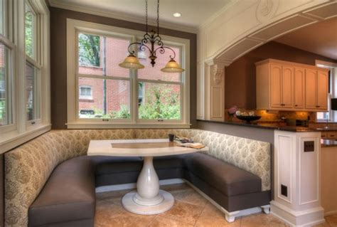 coin cuisine avec banquette des idées pour installer une banquette élégante chez soi