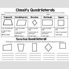 Classifying 2d Shapespolygons,triangles, & Quadrilaterals, Oh My