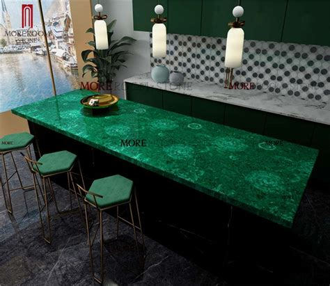 moreroom stone precious stone malachite green  kitchen