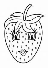 Coloring Fruit Basket Printable Vingel Fruits sketch template