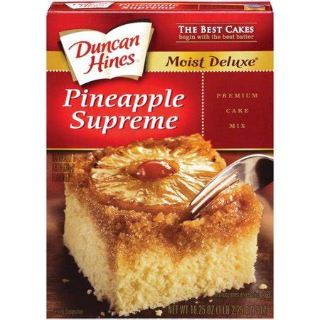 duncan hines signature pineapple supreme cake mix  oz