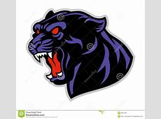 Black panther head stock vector Illustration of