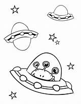 Coloring Pages Spaceship Printable sketch template