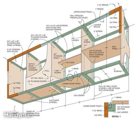 garage cabinet plans installing large garage cabinets the family handyman