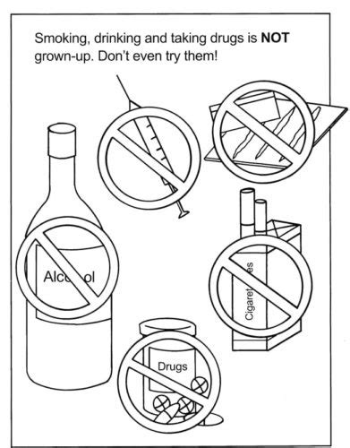 red ribbon week coloring pages  print