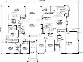 5 bedroom house plans 1 story one story five bedroom home plans home plans homepw72132 4 457 square 5 bedroom 3