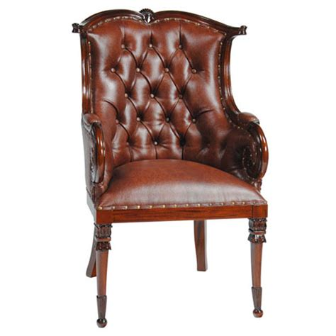home furniture dining room chairs leather arm