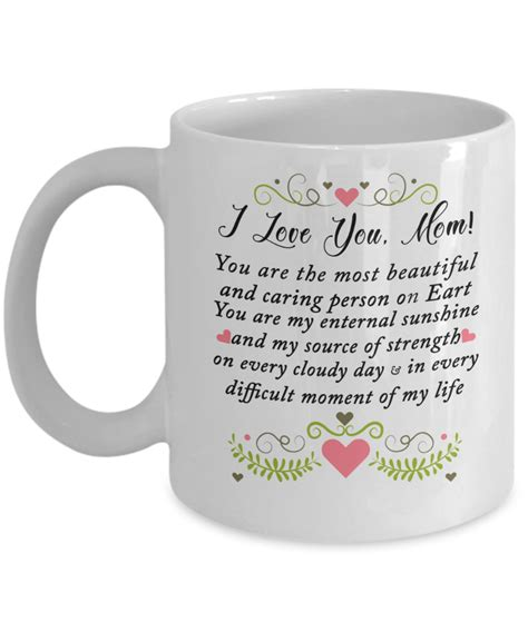Mornings are hectic, especially for moms. To My Mom Coffee Mug, You Are The Most Beautiful | Mom coffee, Mugs, Coffee mug quotes