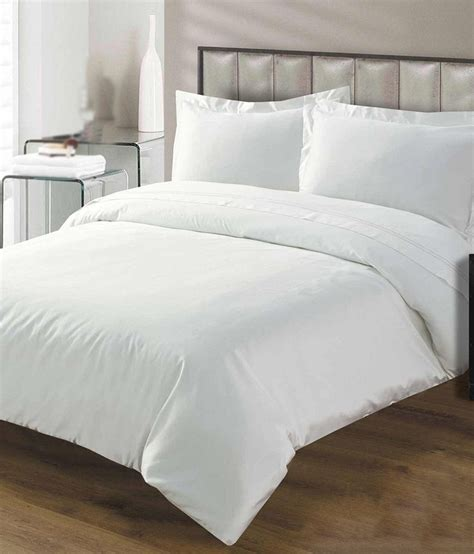 Misr White Plain Cotton Single Bed Covers  Buy Misr White