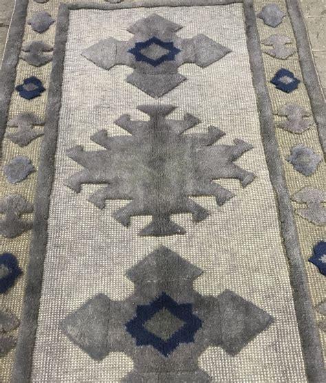 gray runner rug xft oushak rug gray turkish