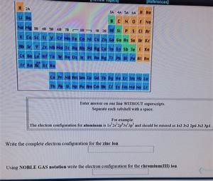 Solved  Write The Complete Electron Configuration For The