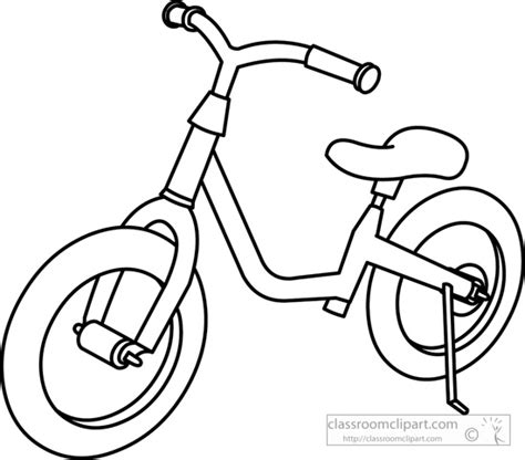 land transportation clipart black and white transportation clipart childrens bicycle outline