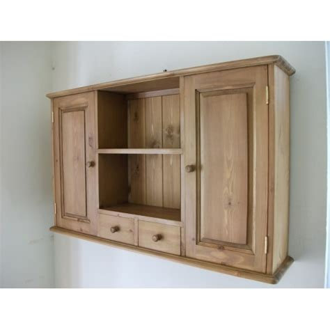 pine kitchen wall unit
