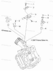 Polaris Atv 2008 Oem Parts Diagram For Engine  Fuel