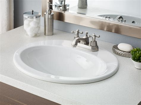 Bathroom Sinks : Cheviot-wh Aria Oval Drop In Single Bowl Bathroom