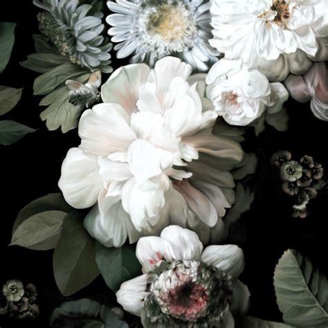 dark floral wallpaper black floral wallpaper ellie