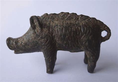 Celtic Bronze Wild Boar Statuette