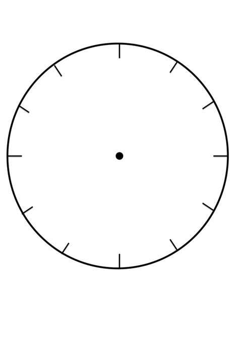 blank clock template clock faces for use in learning to tell the time