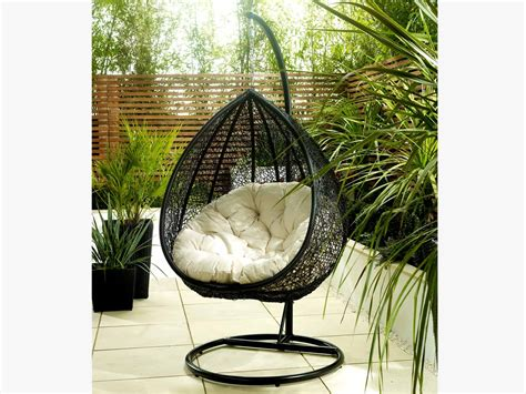 hanging rattan chair  interior  exterior