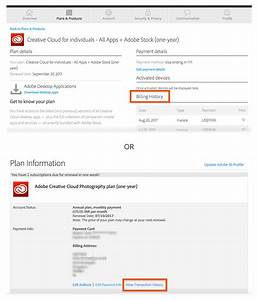 Print a copy of the invoice for your adobe purchase for Creative cloud invoices