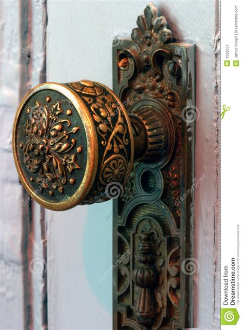 antique brass door knob stock image image  handle obstacle