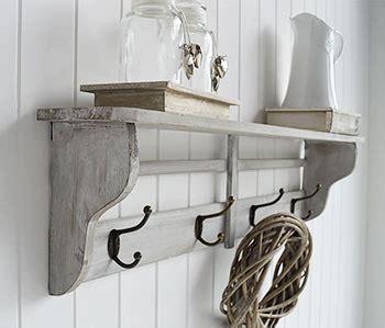 parisian grey wall shelf  hooks  double hooks