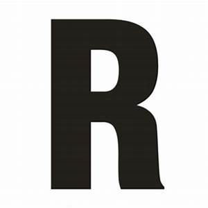 solid capital r With giant letter r