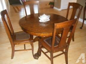 antique tiger oak dining room set large antique tiger