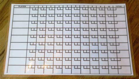 bowling score sheet template    documents