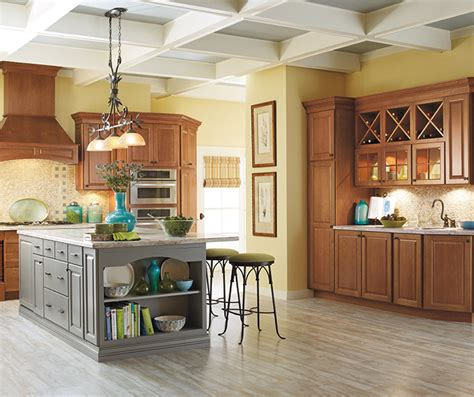 gray kitchen island carmin cabinet door style schrock cabinetry