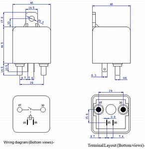 Automotive Relay High Power For Truck Starter Relay 100a