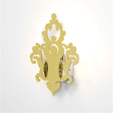 applique a muro applique anthea gold a muro in plexiglass colore oro