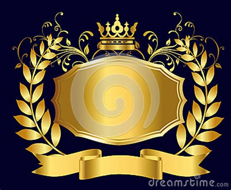 royal shield  gold royalty  stock  image