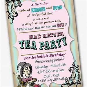 mad hatter invitation birthday tea party custom by With mad hatter tea party invitation template free