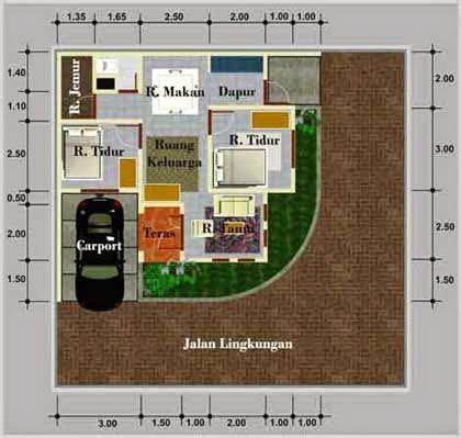 denah rumah minimalis posisi hook denah rumah rumah