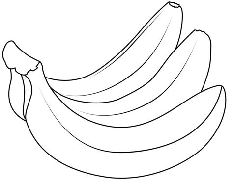 banana template banana coloring pages to and print for free