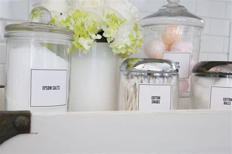 bathroom organization labels  idea room