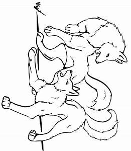 Anime Wolf Pack Pages Coloring Pages