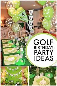 Golf-themed 6th Birthday Boy Party | Golf birthday party ...