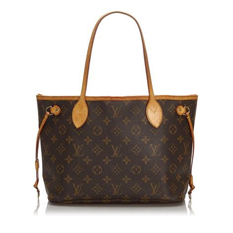 pre loved louis vuitton brown monogram canvas neverfull pm france ebay