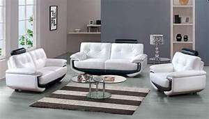 White leather sofa set with black accents miami florida for White sectional sofa miami