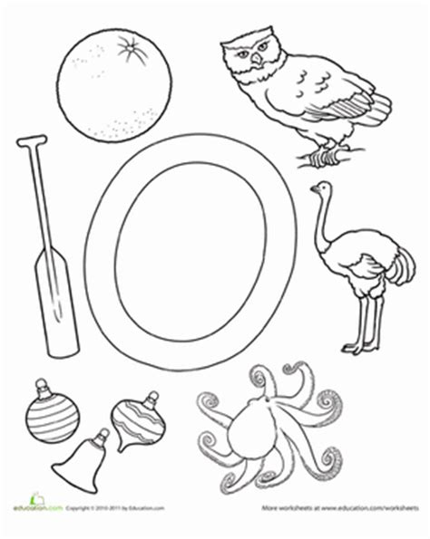 o is for worksheet education