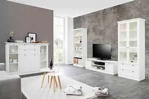 Wohnzimmer Vitrine Weiß : wohnzimmer landstr m 151 wei 4 teilig lowboard vitrine highboard wohnbereiche wohnzimmer ~ Markanthonyermac.com Haus und Dekorationen
