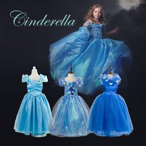 Summer Children Dresses For Girls Cinderella Costumes Princess Sofia Anna Elsa White snow Aurora