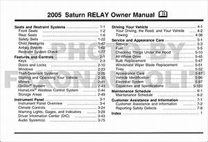 2005 Saturn Relay Owner U0026 39 S Manual Original