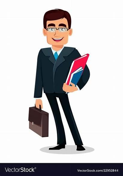 Suit Cartoon Business Formal Character Vector Vectorstock