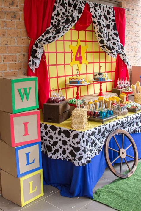 toy story cowboy cowgirl birthday party ideas photo
