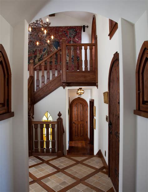 whimsical english tudorbokal sneed architects traditional staircase san diego