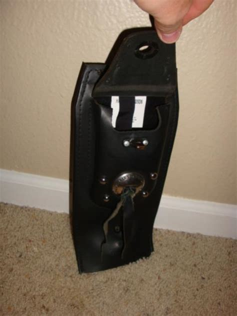 harley studded leather tank panel  pocket harley